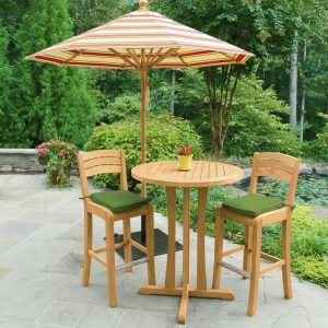 Teak Bar Table Set and Stool